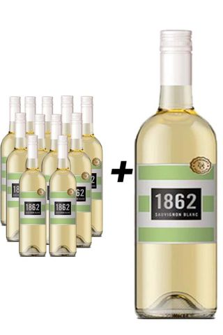 1862 Valk Sauvignon Blanc 11 flessen + Magnum fles Gratis